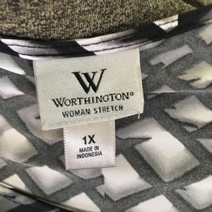 Worthington Tops - Worthington black and white top.