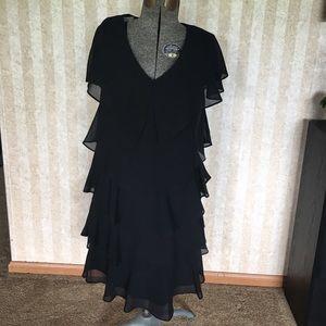 Tiered black dress