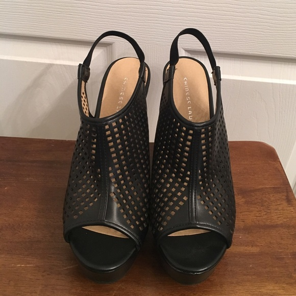 jcpenney Shoes | Black Wedges Peep Toe