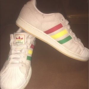 adidas Shoes | Jamaican Color Shell Toe