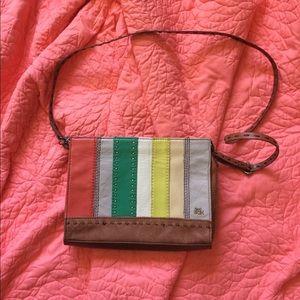The Sak crossbody leather striped purse