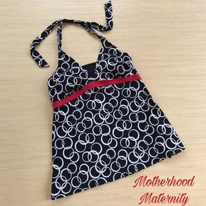 Motherhood Maternity Halter Tankini Size Medium