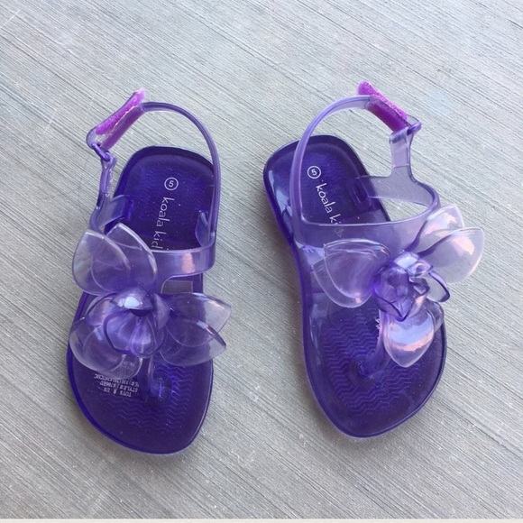 e75f61ae775a Koala Kids Other - Koala Kids Purple Jelly Flip Flop Sandals Size 5