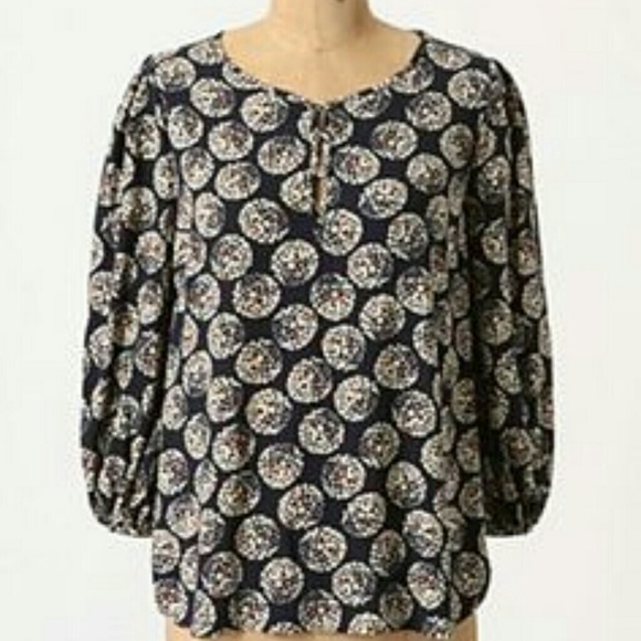 a30d89cf905f8 Anthropologie Tops | Maeve Confetti Ball Blouse | Poshmark