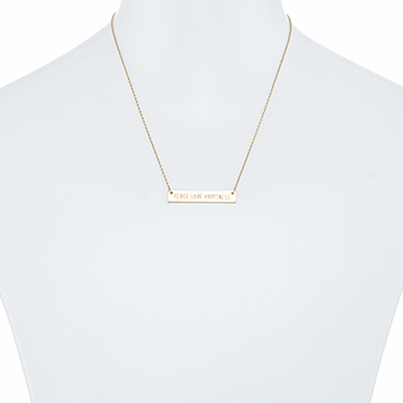 Tanya Kara Jewelry - Rose Gold Positivity Necklace