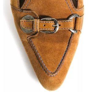 Shoes - TOD'S COGNAC BROWN SUEDE PUMPS SZ 8