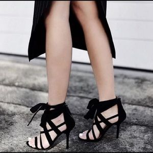 Nine West Black Rustic Sandals