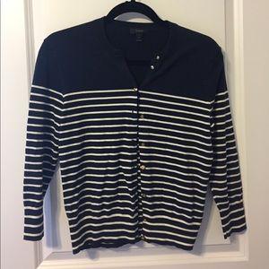 J Crew Striped cardigan