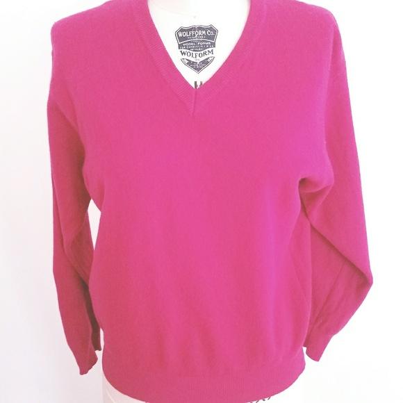 benetton Sweaters - 1990S HOT Pink BENETTON lambswool sweater