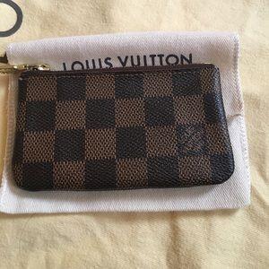 LV key chain wallet