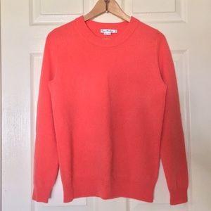 Bright Coral Cashmere Sweater