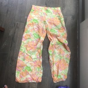 Linen Lilly Pulitzer pants size m