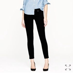 J. Crew Toothpick Jeans In Black Size 27