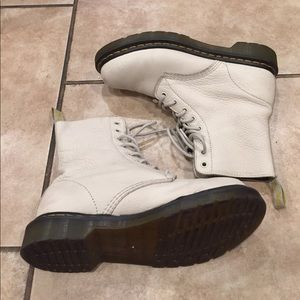 Dr. Martens Lace Up Pascal White Leather Boots