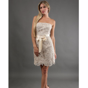 79% off Adrianna Papell Dresses & Skirts - Coral eyelet/lace dress ...