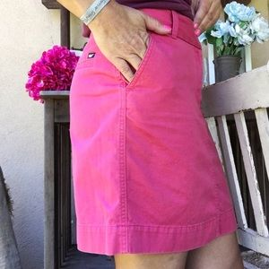 CHINO PocketedPencil Short Hot Pink Skirt