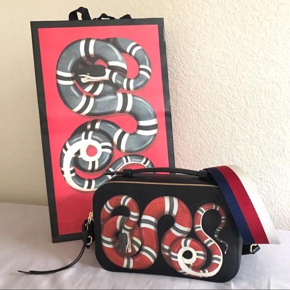 29c1811bb05 Gucci Kingsnake Messenger Soho Disco Camera Bag