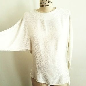1990S Embossed Rayon blouse
