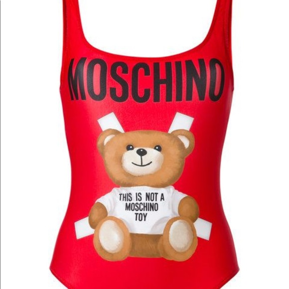 78311cc147f56 Moschino Swim | One Piece Suit Red Teddy Bear Size 38 | Poshmark