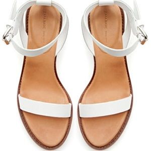 White leather sandals from Zara