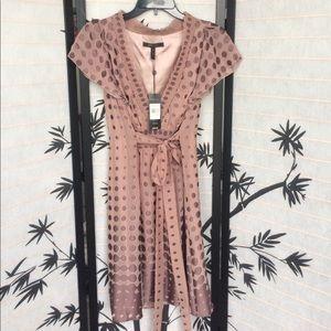 Bcbgmaxazria polka dot front tie dress
