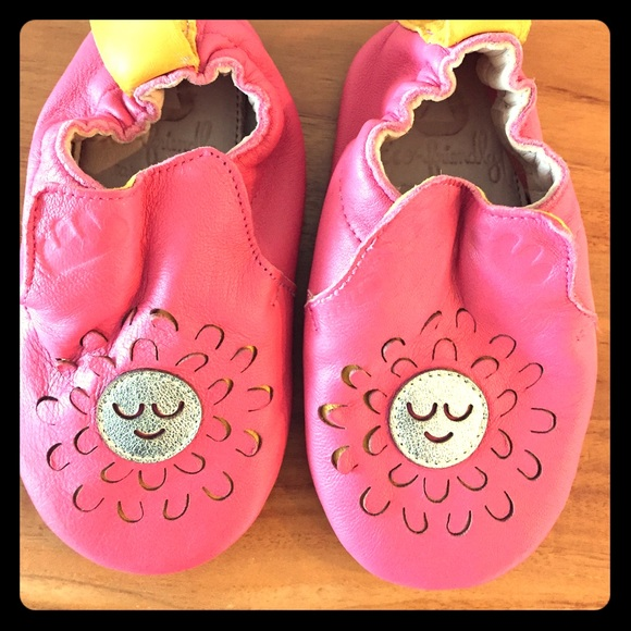 6f6147a3aeaad Easy Peasy Shoes | Girls Moccasin Booties With Sun Pattern | Poshmark