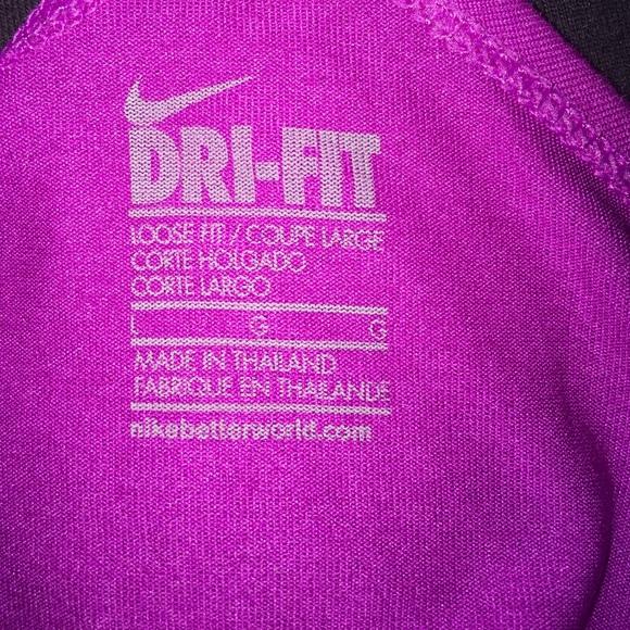 nike nike just do it dri fit logo open back tank top