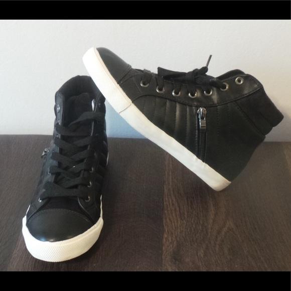 JustFab Shoes | Womens Black Sneaker