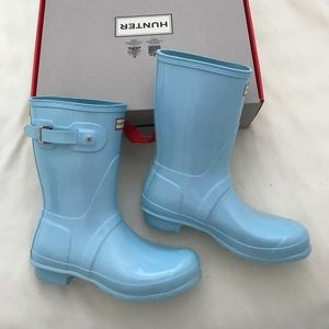 Brand new hunter short gloss rain boots