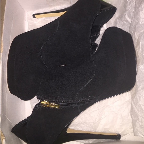 Shoes - Black Patent And Suede