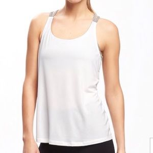 NWT Old Navy White Loose Go-Dry Cool 2-in-1 Tank