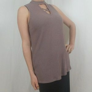 NWT V-Neck Cross Front Sleeveless Top