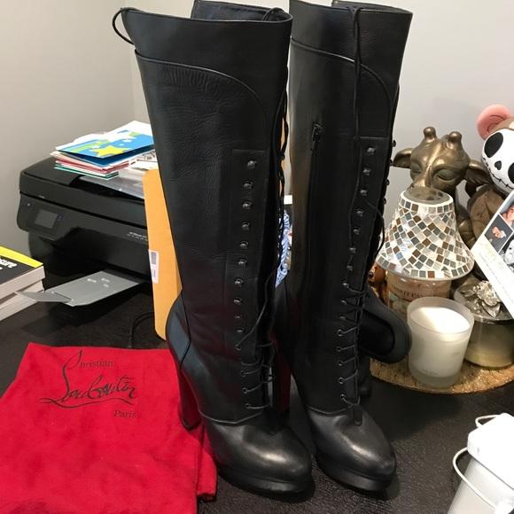 60bdd37b05fe Christian Louboutin Shoes   Nardja 140mm Leather Boots   Poshmark