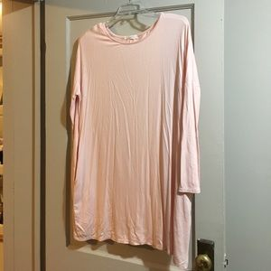 New Light Pink Flowy Tunic Piko Style Top Small