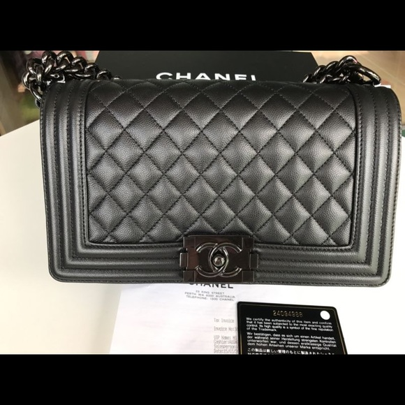 chanel bags 2017 black. 2017 s chanel so black le boy bag. excellent cond. chanel bags o