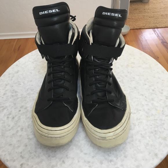 diesel high top sneakers mens