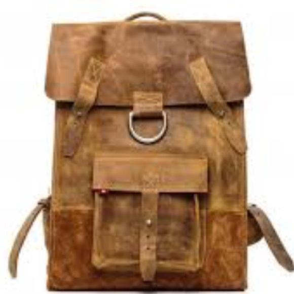 60% off Oliberte Handbags - {oliberte} Distressed Leather Rucksack ...