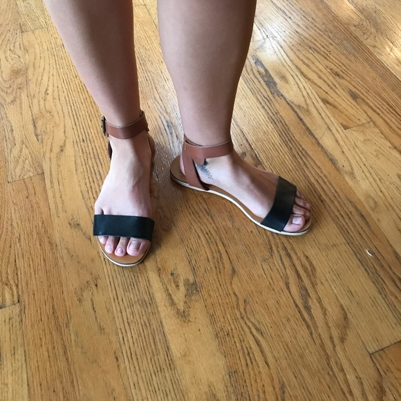 rebels Shoes - Rebels leather ankle strap flat sandal. Size 6