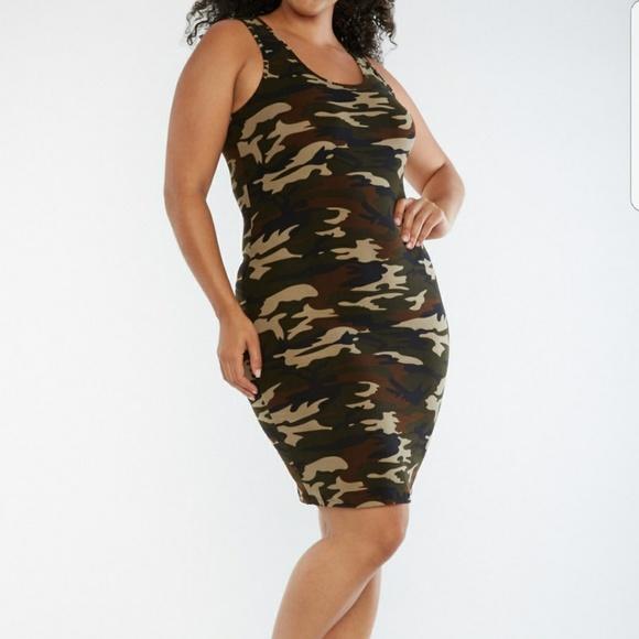f1ab096552b06 Dresses   Plus Size Bodycon Camo Print Dress   Poshmark