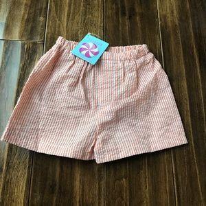 Mint Seersucker Shorts size 6-12M