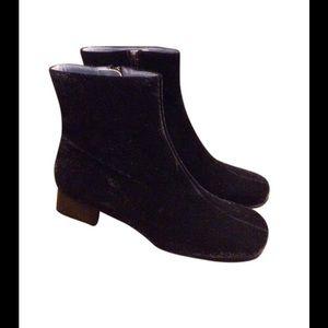 Charles Jourdan Black Velvet Booties