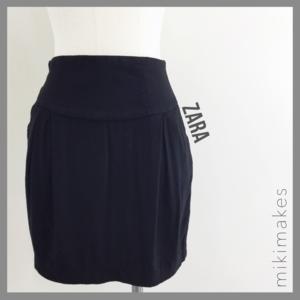 🆕 ZARA • black mini skirt with pockets