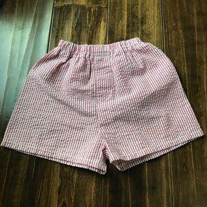 Mint Seersucker Shorts 12-18 months