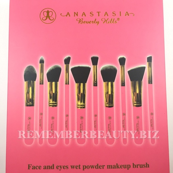 anastasia brush kit. anastasia beverly hills blending brush set kit e