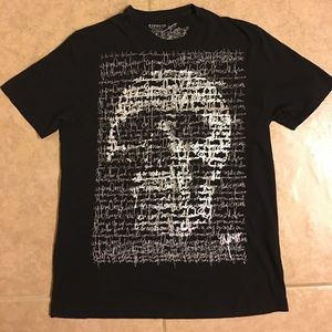 ☀️Men's Express Graphic Tee Shirt Skull Large