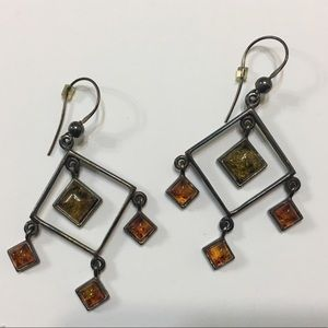Amber Dangling Earrings