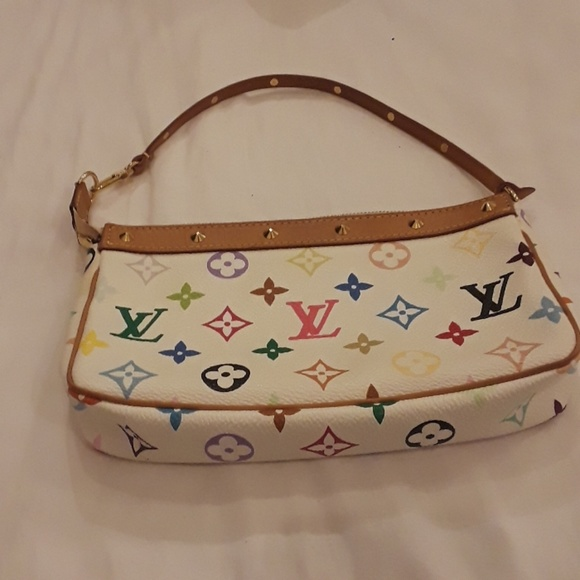 4f0e87a4b2e9 Louis Vuitton Handbags - Louis Vuitton White Murakami Small Pochette