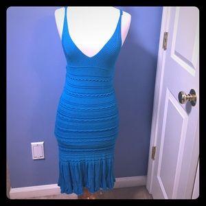 bebe midi summer knitted dress