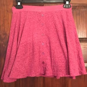 American Eagle Outfitters soft pink button skirt