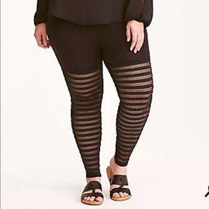 Torrid mesh shadow stripe leggings